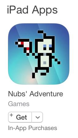 Nubs' Adventure - App Store Icon